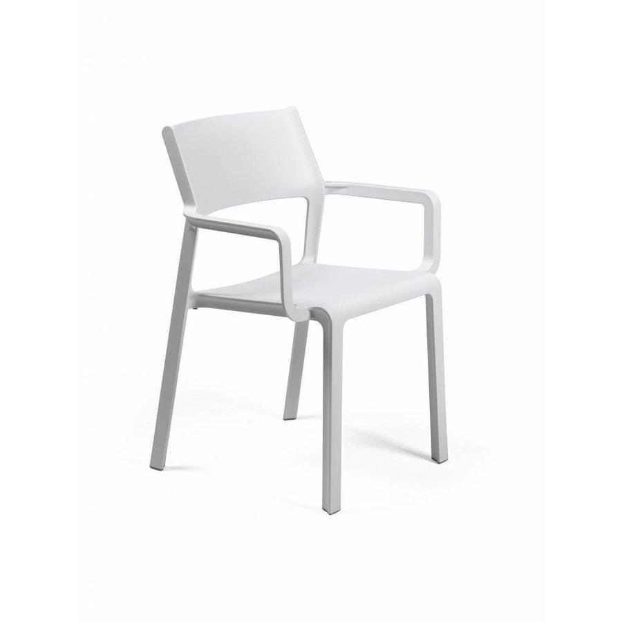 Stapelbare Armstoel - TRILL - Bianco - Wit - Nardi-1