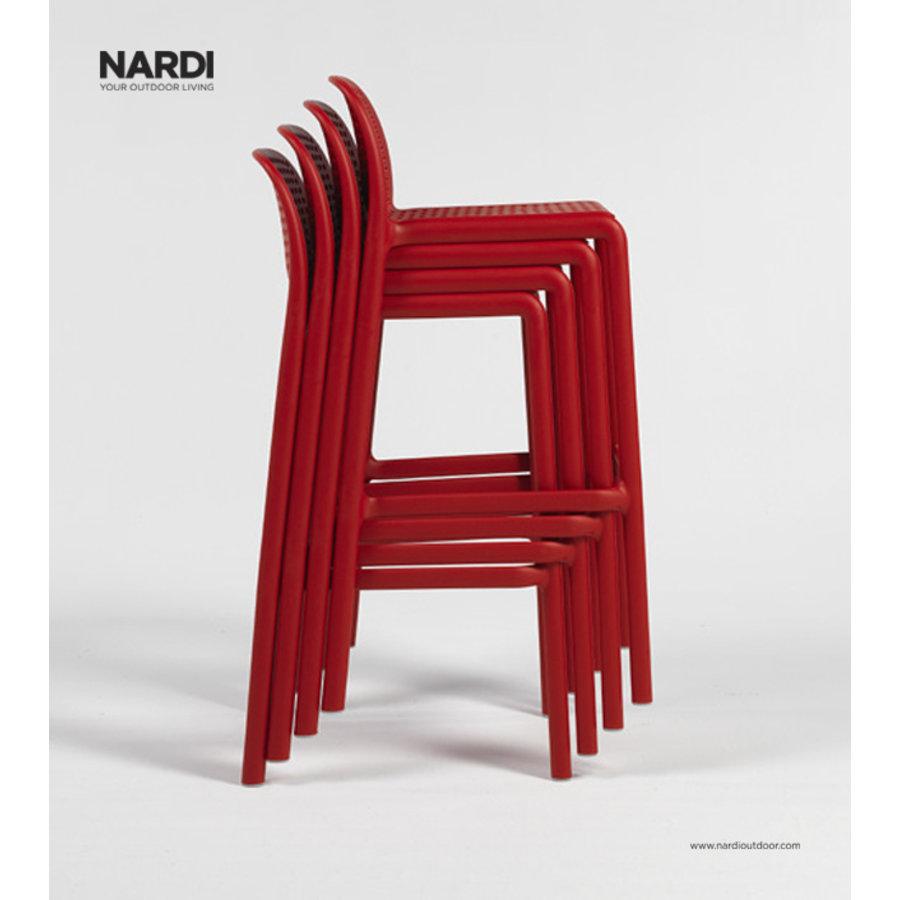 Barkruk Buiten - 65 cm - LIDO MINI - Rosso - Rood - Nardi-3