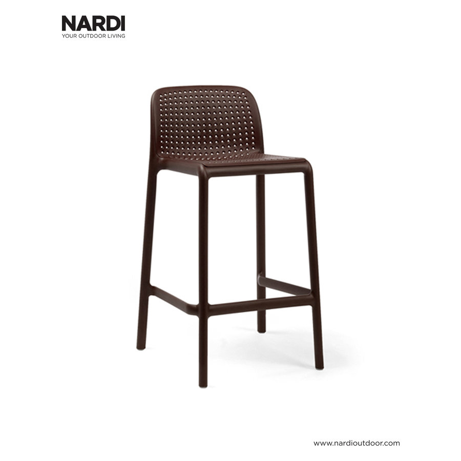 Barkruk Buiten - 65 cm - LIDO MINI - Koffie Bruin - Nardi-1