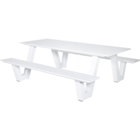 thumb-Picknicktafel - Breeze - Aluminium - Wit - Lesli Living-1