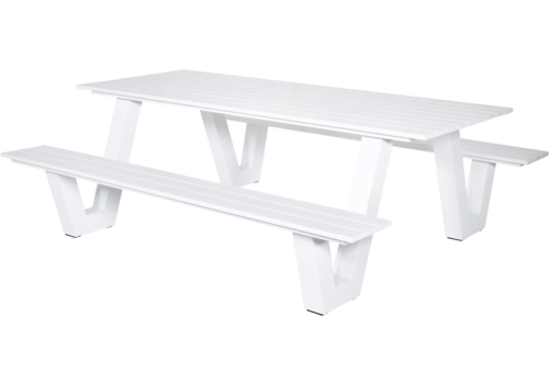 Picknicktafel - Breeze - Aluminium - Wit - Lesli Living