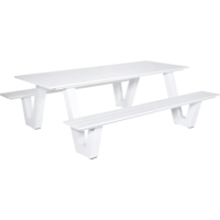 thumb-Picknicktafel - Breeze - Aluminium - Wit - Lesli Living-2
