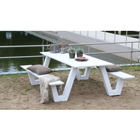 thumb-Picknicktafel - Breeze - Aluminium - Wit - Lesli Living-3