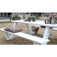thumb-Picknicktafel - Breeze - Aluminium - Wit - Lesli Living-4