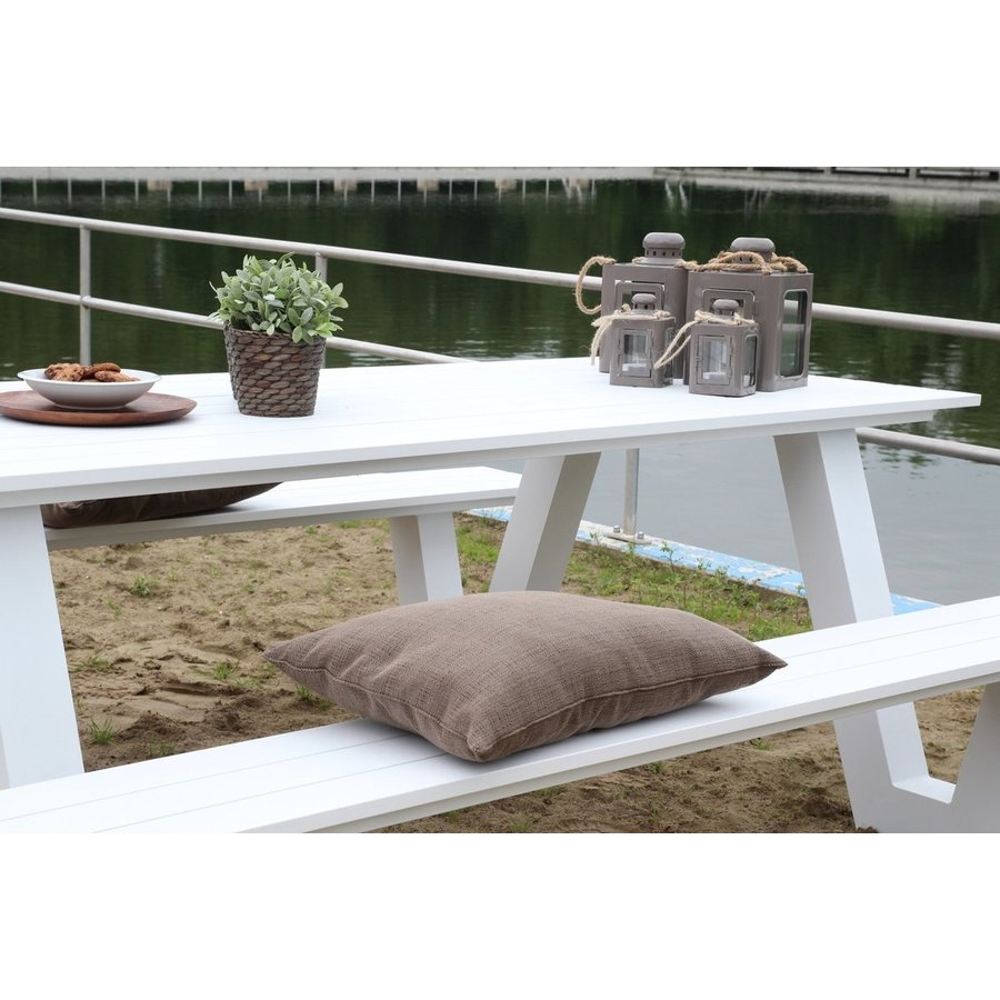 Picknicktafel - Breeze - Aluminium - Wit - Lesli Living-7