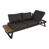 Lesli Living  Arezzo - 2-in-1 - Loungebank - Ligbed - Antraciet - Lesli Living