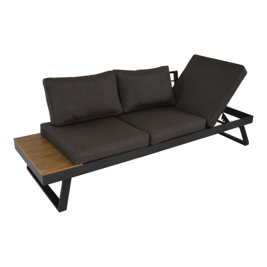 Arezzo - 2-in-1 - Loungebank - Ligbed - Antraciet - Lesli Living-1