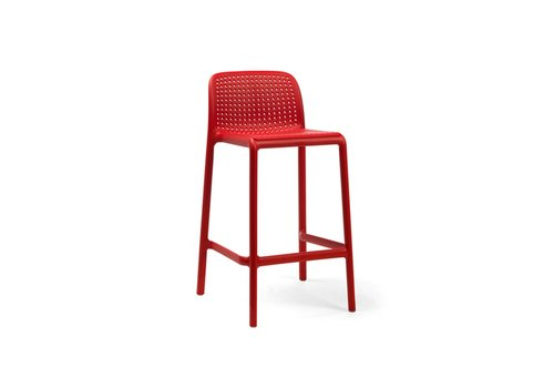 Barkruk Buiten - 65 cm - LIDO MINI - Rosso - Rood - Nardi