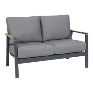 Lesli Living  Lounge Tuinbank - 2 Persoons - Mai Tai - Antraciet - Lesli Living