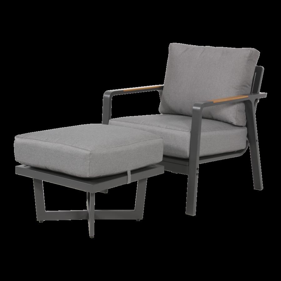 Lounge Tuinstoel - Mai Tai - Antraciet - Lesli Living-4
