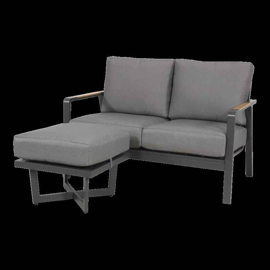 Lounge Voetenbank - Bali - Aluminium - Antraciet - Garden Interiors-6