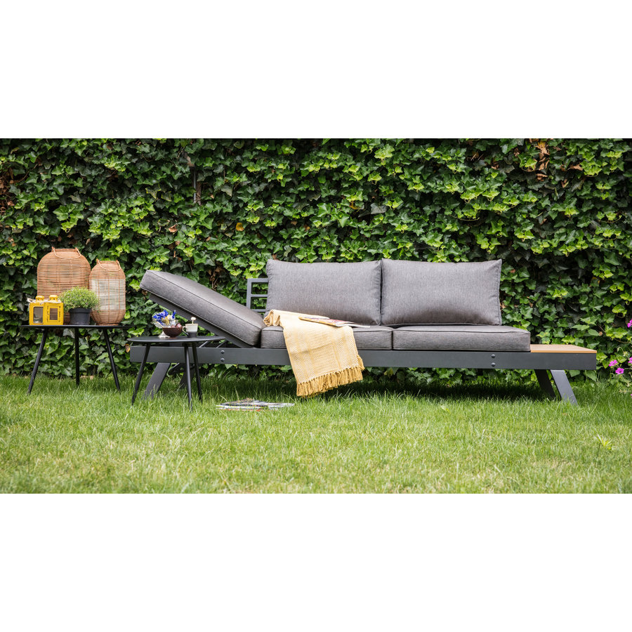 Arezzo - 2-in-1 - Loungebank - Ligbed - Antraciet - Lesli Living-3