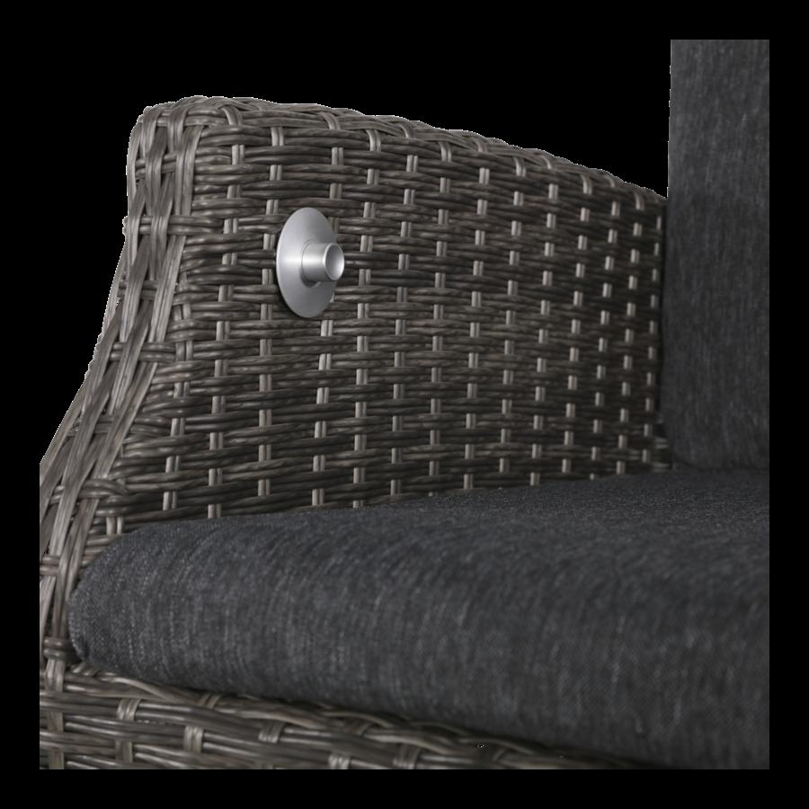 Dining Tuinstoel - SoHo Comfort Coal - Wicker - Lesli Living-9