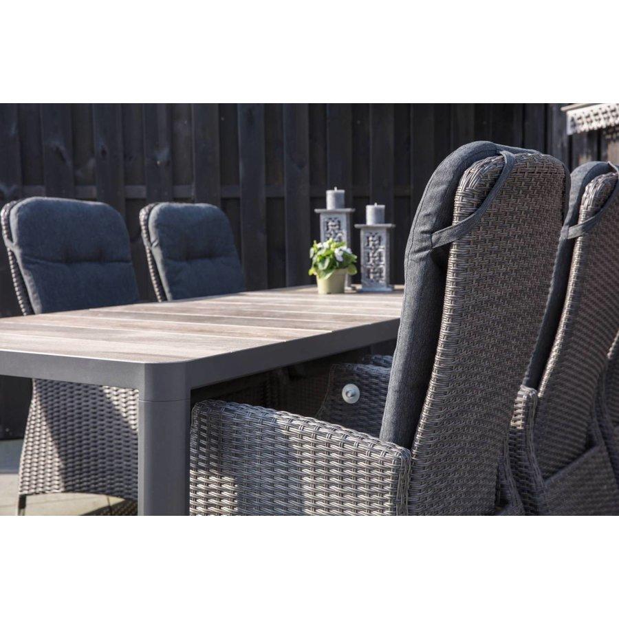 Dining Tuinstoel - SoHo Comfort Coal - Wicker - Lesli Living-3