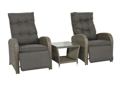 Lounge Tuinstoelen - Duoset Melia - Wicker - Lesli Living