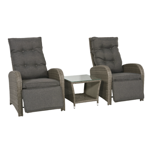 Lesli Living  Lounge Tuinstoelen - Duoset Melia - Wicker - Lesli Living