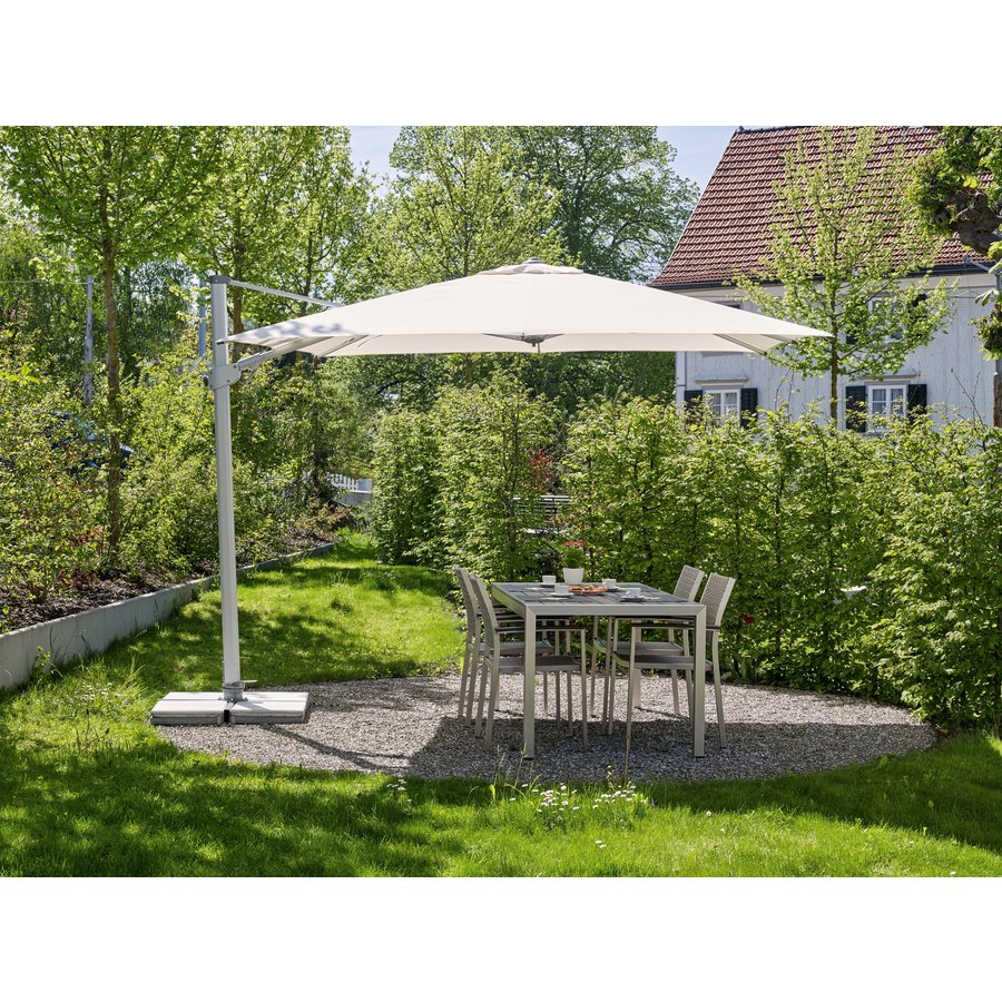 Zweefparasol - VarioFlex  - 300x300 cm - Grijs - SunComfort by Glatz-5