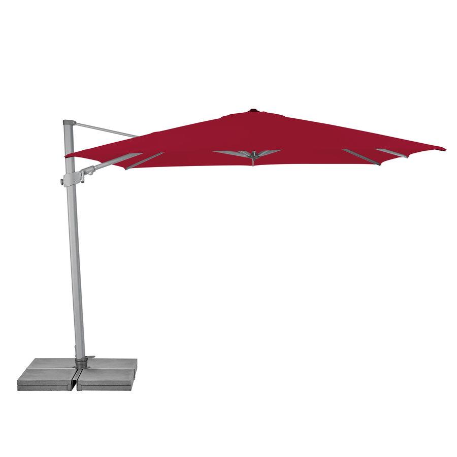 Zweefparasol - VarioFlex  - 300x300 cm - Rood - SunComfort by Glatz-1