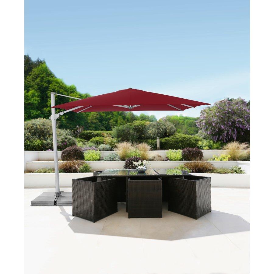 Zweefparasol - VarioFlex  - 300x300 cm - Rood - SunComfort by Glatz-3