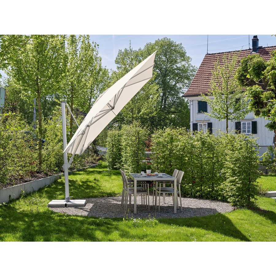 Zweefparasol - SunFlex - 300x300 cm - Grijs - SunComfort by Glatz-4