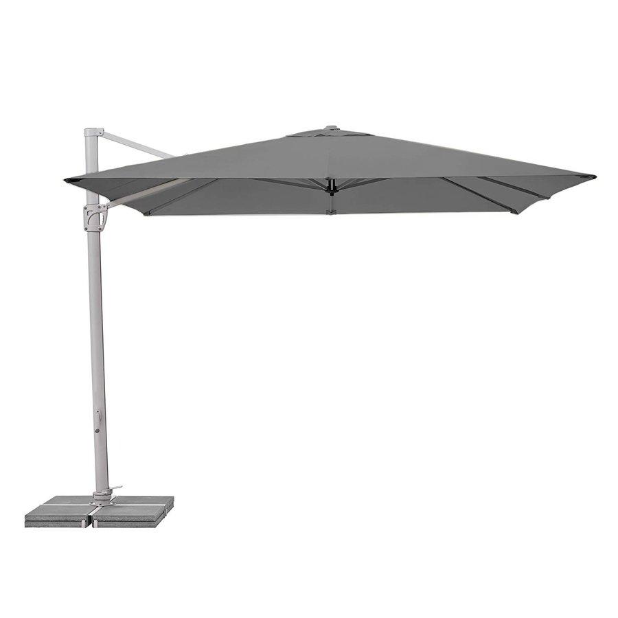 Zweefparasol - SunFlex - 300x300 cm - Grijs - SunComfort by Glatz-1