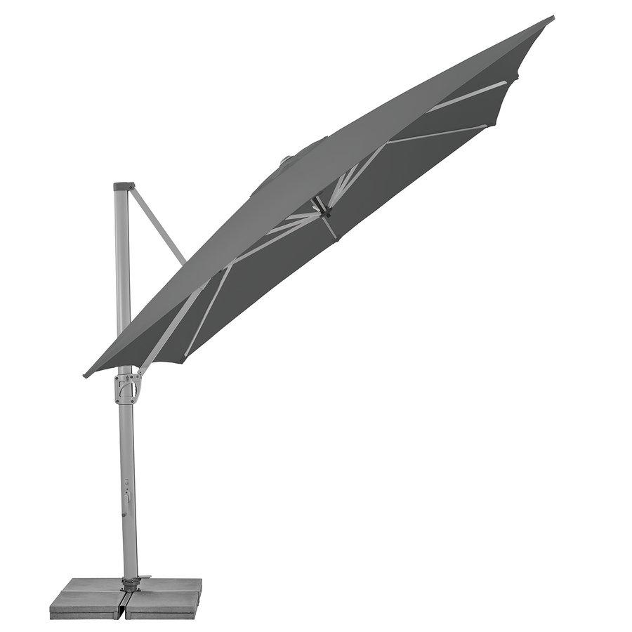 Zweefparasol - SunFlex - 300x300 cm - Grijs - SunComfort by Glatz-2