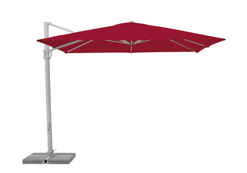 Zweefparasol - SunFlex - 300x300 cm - Rood - SunComfort by Glatz