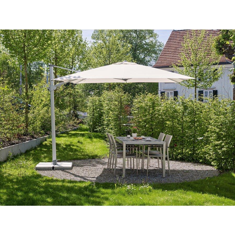 Zweefparasol - VarioFlex LED - 300x300 cm - Ecru - SunComfort by Glatz-3