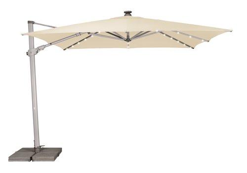 Zweefparasol - VarioFlex LED - 300x300 cm - Ecru - SunComfort by Glatz