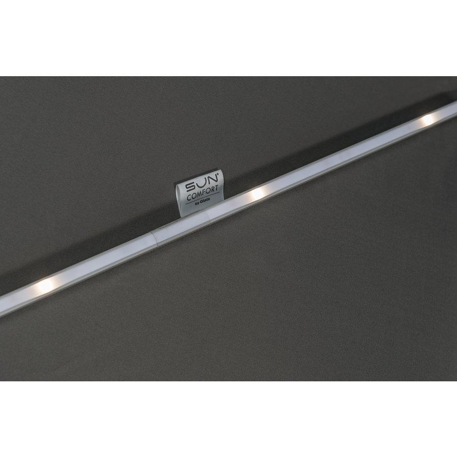 Zweefparasol - VarioFlex LED - 300x300 cm - Ecru - SunComfort by Glatz-6