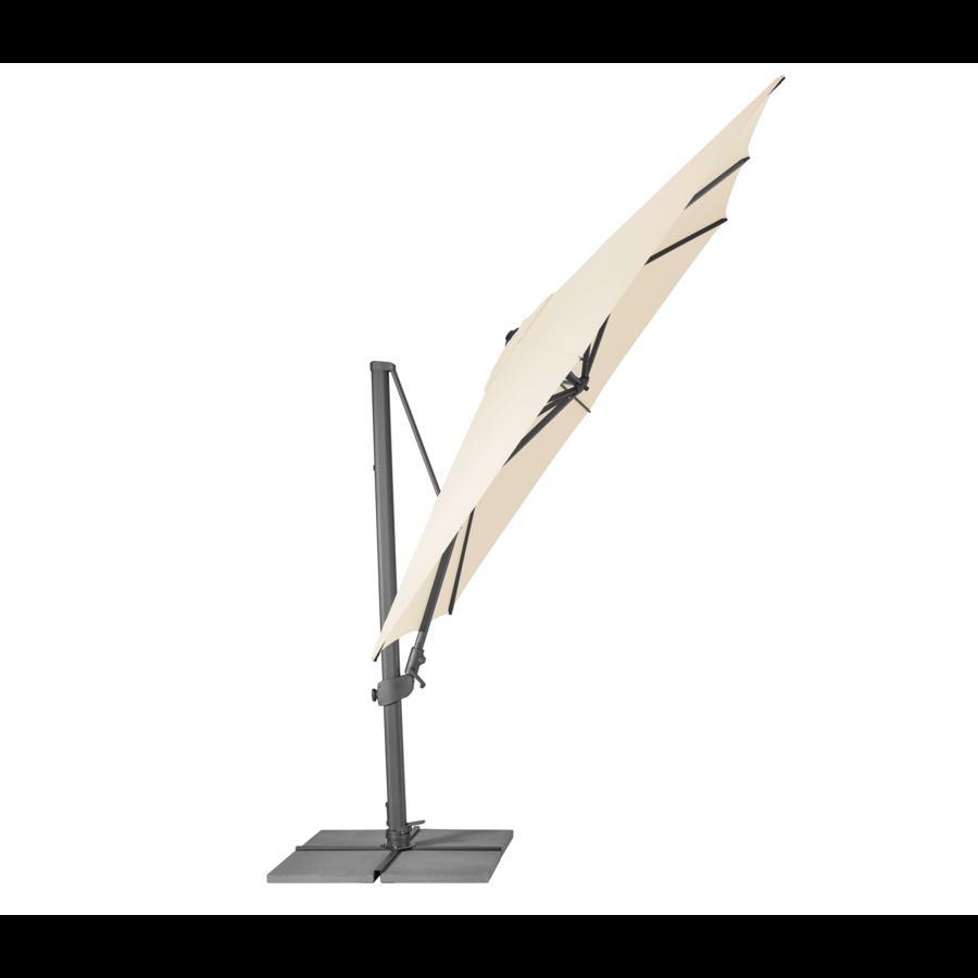 Zweefparasol - VarioFlex LED - 300x300 cm - Ecru - SunComfort by Glatz-2