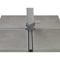 thumb-Zweefparasol - VarioFlex LED - 300x300 cm - Grijs - SunComfort by Glatz-8