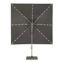 thumb-Zweefparasol - VarioFlex LED - 300x300 cm - Grijs - SunComfort by Glatz-2