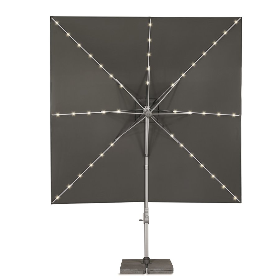 Zweefparasol - VarioFlex LED - 300x300 cm - Grijs - SunComfort by Glatz-2