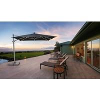 thumb-Zweefparasol - VarioFlex LED - 300x300 cm - Grijs - SunComfort by Glatz-3