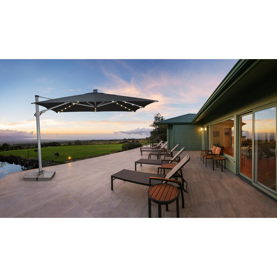 Zweefparasol - VarioFlex LED - 300x300 cm - Grijs - SunComfort by Glatz-3