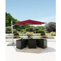 thumb-Zweefparasol - VarioFlex LED - 300x300 cm - Rood - SunComfort by Glatz-3
