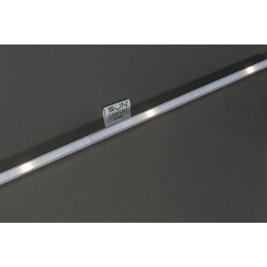 Zweefparasol - VarioFlex LED - 300x300 cm - Off Grey - SunComfort by Glatz-7