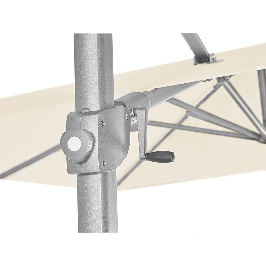 Zweefparasol - VarioFlex LED - 300x300 cm - Off Grey - SunComfort by Glatz-9