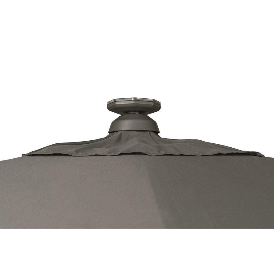 Zweefparasol - VarioFlex LED - 300x300 cm - Off Grey - SunComfort by Glatz-8
