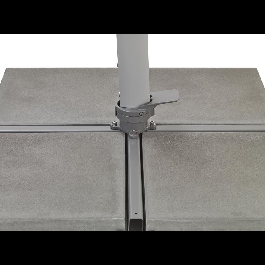 Zweefparasol - VarioFlex LED - 300x300 cm - Off Grey - SunComfort by Glatz-10