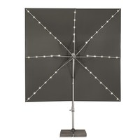 thumb-Zweefparasol - VarioFlex LED - 300x300 cm - Off Grey - SunComfort by Glatz-4