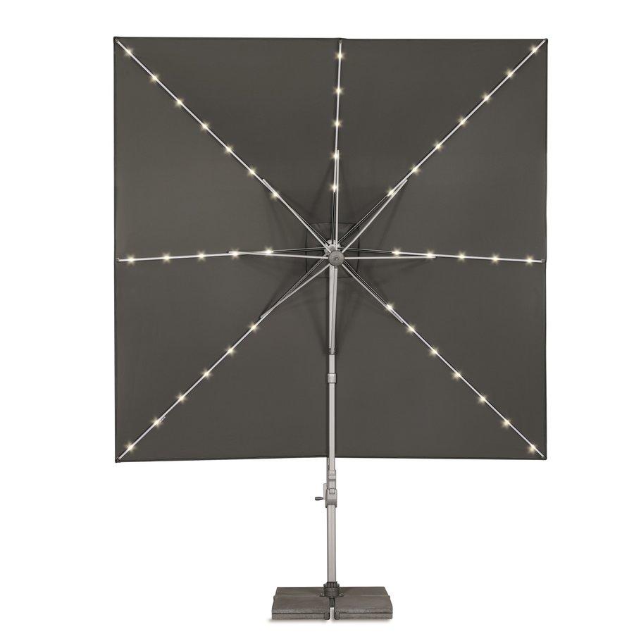Zweefparasol - VarioFlex LED - 300x300 cm - Off Grey - SunComfort by Glatz-4