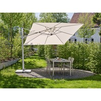 thumb-Zweefparasol - VarioFlex LED - 300x300 cm - Off Grey - SunComfort by Glatz-3