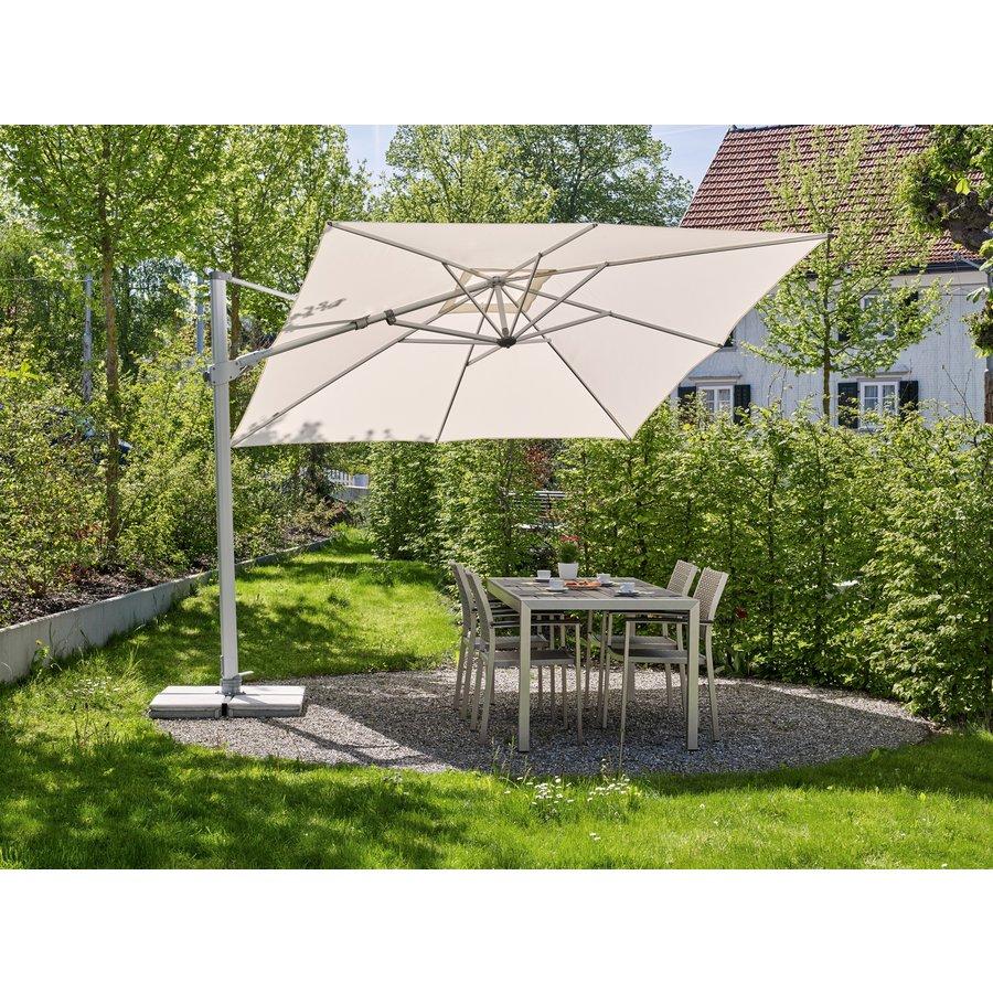 Zweefparasol - VarioFlex LED - 300x300 cm - Off Grey - SunComfort by Glatz-3