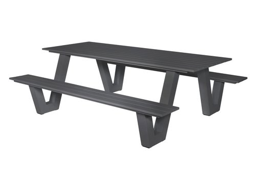 Picknicktafel - Breeze - Aluminium - Antraciet - Lesli Living
