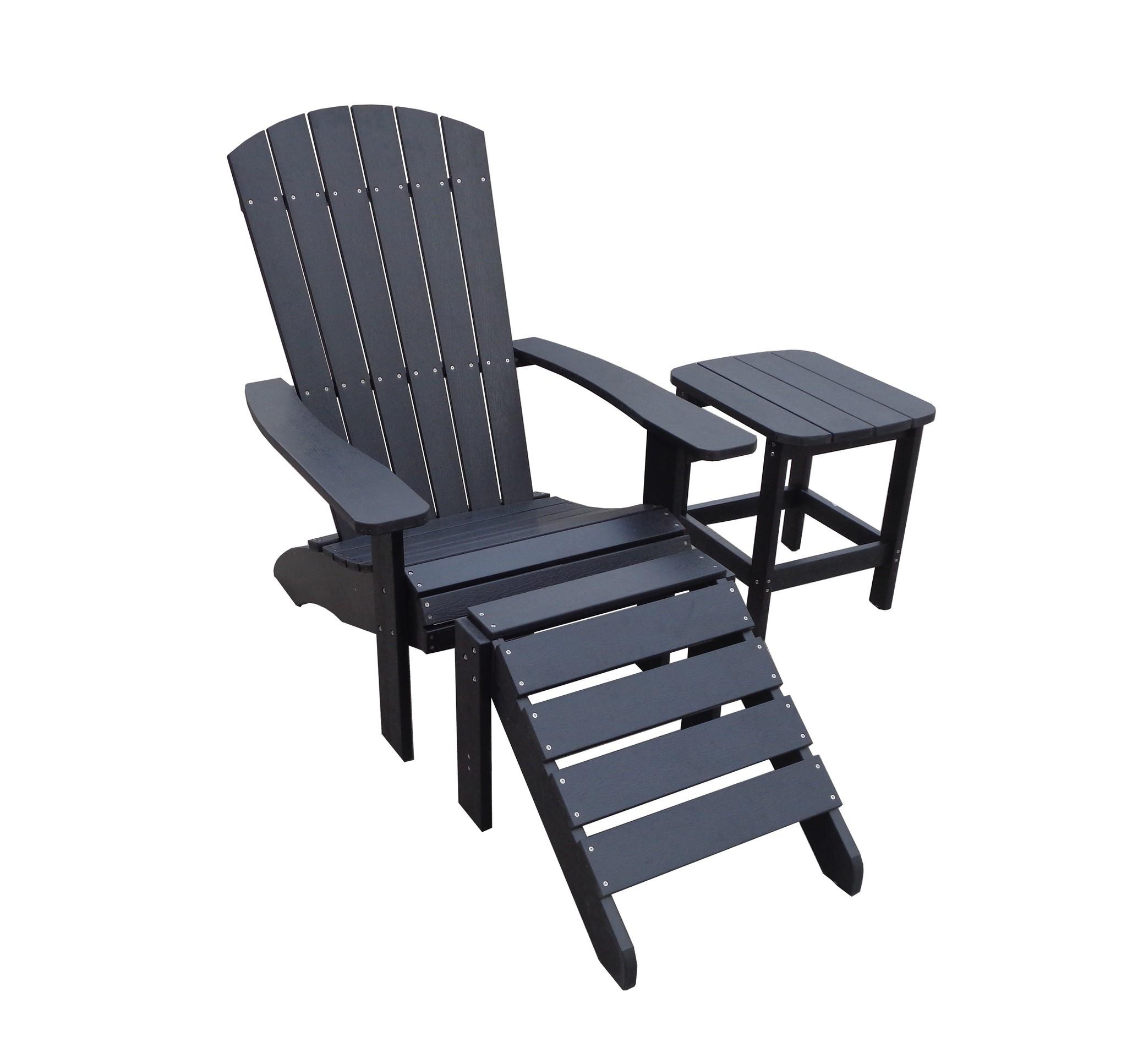 Adirondack Chair Kussens.Adirondack Set Kunststof Belize Black Garden Interiors