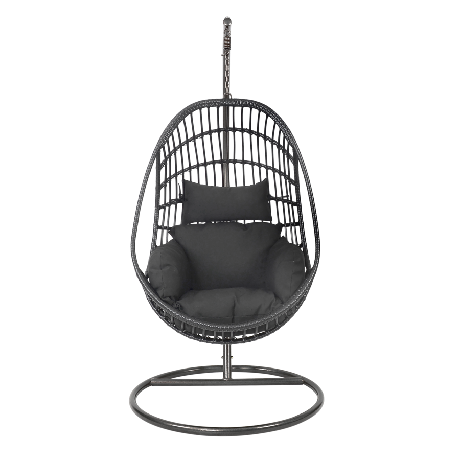 Hangstoel - Sturdy - Zwart - Lesli Living-1