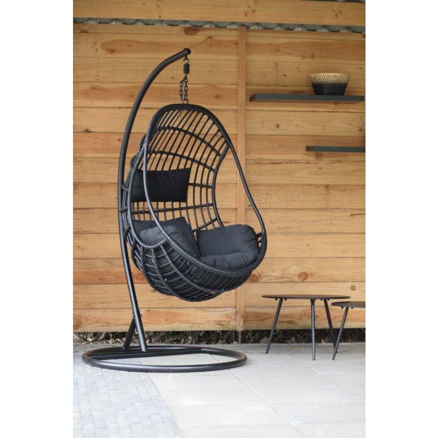 Hangstoel - Sturdy - Zwart - Lesli Living-3