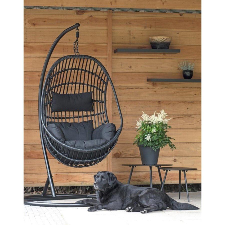 Hangstoel - Sturdy - Zwart - Lesli Living-4